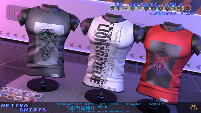 'TD' Hetika Shirts -FATPACK- Full Graphics