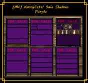 [MC]  [MC] KittyCats! Sale Shelves PURPLE [wear to unpack]