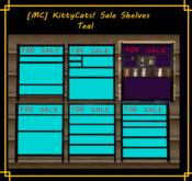 [MC]  [MC] KittyCats! Sale Shelves TEAL [wear to unpack]