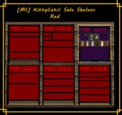 [MC]  [MC] KittyCats! Sale Shelves RED [wear to unpack]