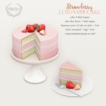 {what next} Strawberry Lemonade Cake