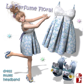 Kawaii Floral Dress and Shoes Mule Bunny