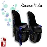 [ KIMONO ] Kimono Mules Blue