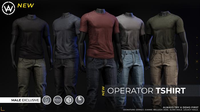 [WAZ] Operator TShirt (White)