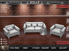 {::ROAR::} Full Perm Mesh Fabric Upholstery Ventola Sofa Set