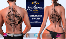 RESILIENCE Tattoo -- Strongest Sword
