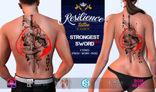 RESILIENCE Tattoo -- Strongest Sword [RED]