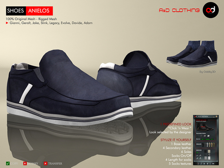 A&D Clothing - Shoes -Anielos- Navy