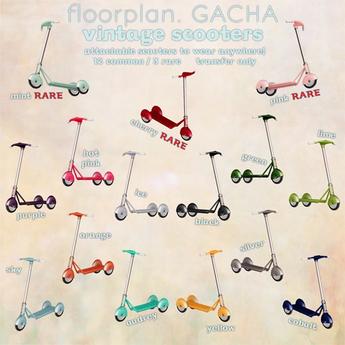 floorplan. vintage scooter / ice