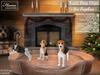 Puppy,fireplace