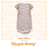 {Glazed Honey} Lacey Dress TDF - Rosewood