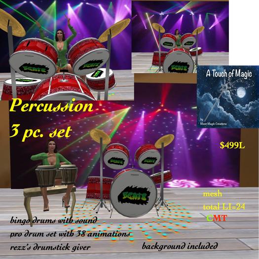 percussion set-crate