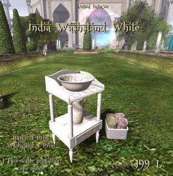 *UI* India Washstand White v