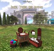 *UI* India Toilet Set Brown v