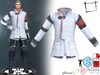 Full Perm Sci-fi Scientist Doctor Officer Uniform Jacket Slink Male, Belleza Jake, Signature Gianni