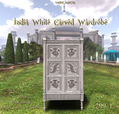 *UI* India White Carved Wardrobe v