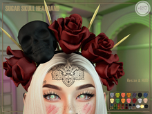 #187# Sugar Skull Headband