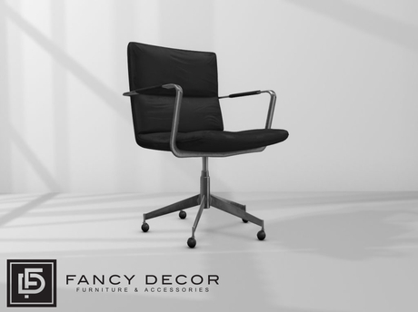 Fancy Decor: Henrik Computer Chair (black leather)