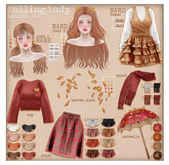 bonbon - falling lady - hair A RARE