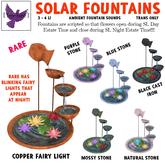 [ free bird ] Solar Fountain - Mossy Stone