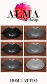 ALMA Makeup - Glossy Blacks - BoM Tattoo