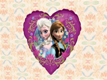 Child Wall Art Alpha Decal Heart Princess Pair Copy-Mod 1 prim Home Hanging Decor, image both sides, easy Edit Resize!