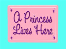 Child Wall Art Alpha Decal, PRINCESS LIVES HERE Copy-Mod 1 prim Home Hanging Decor, image both sides! Easy Edit Resize!