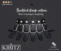 Kibitz - Buckled strap collar - black