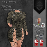 **Mistique** Carlotta Print Brown (wear me and click to unpack)