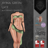 **Mistique** Avina Green Lace (wear me and click to unpack)