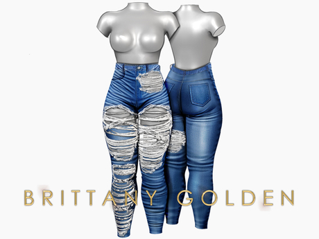 Brittany - Ophelia Jeans Destroy - Med
