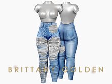 Brittany - Ophelia Jeans Destroy - Light