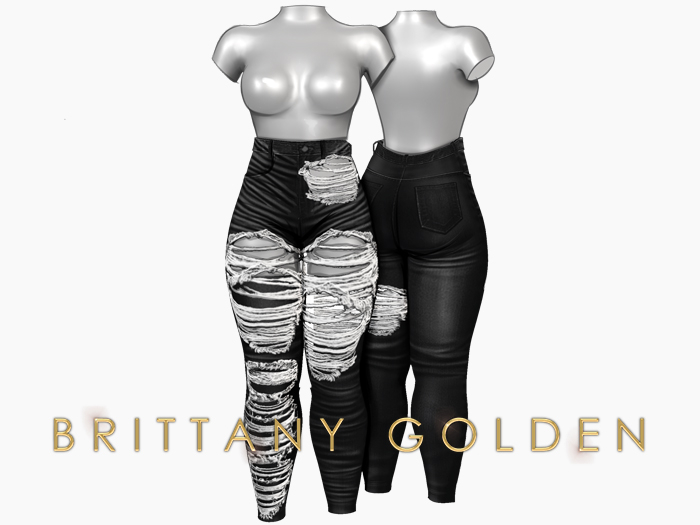 Brittany - Ophelia Jeans Destroy - Black