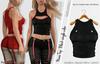 NOVA FEMALE BLACK TOP- MESH - MAITREYA - BELLEZA FREYA - LEGACY - FashionNatic