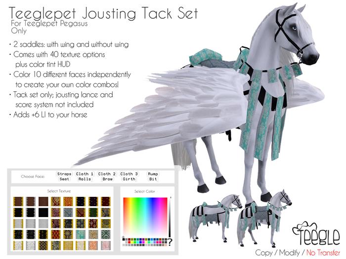 [Teegle] Jousting Tack Set for Teeglepet Pegasus