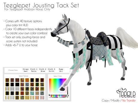 [Teegle] Jousting Tack Set Teeglepet Arabian Horse