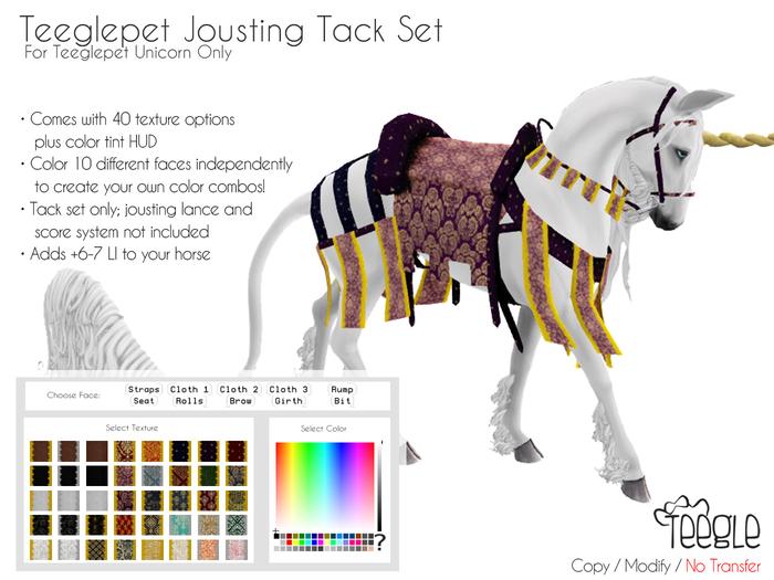 [Teegle] Jousting Tack Set Teeglepet Unicorn