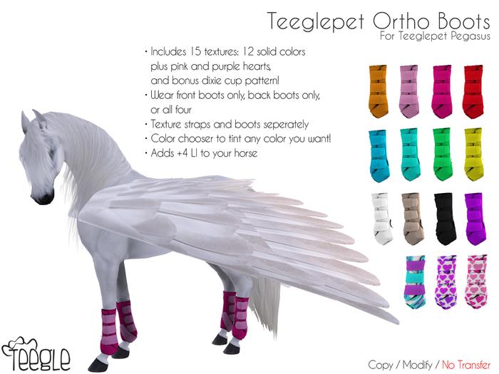 [Teegle] Ortho Boots for Teeglepet Pegasus
