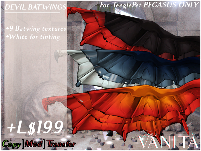 TEEGLEPET PEGASUS: Devil Batwings!