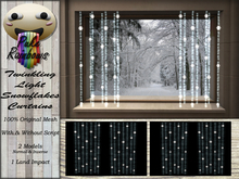 [PR] Twinkling Light Snowflakes Curtains (Boxed)