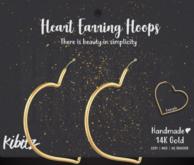 Kibitz - Heart earring hoop - gold