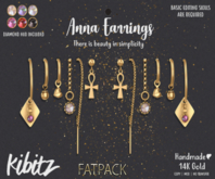 Kibitz - Anna earrings - gold