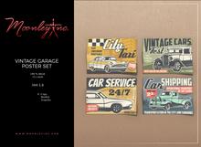 Moonley Inc. - Vintage Garage Poster Set