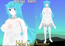 CAT NEKO BLUE HAIR