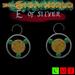"""""""E"""" of silver earrings - Elena"""