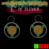 """E"" of silver earrings - Elena"