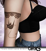 Cats And Lace Arms TaTToo [CAROL G]