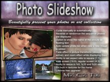 Photo Slideshow Board - multi speed easy to use picture presentation system