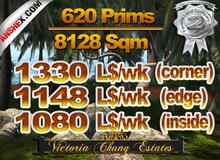 1/8 Homestead Parcel For Rent - 620 Prims