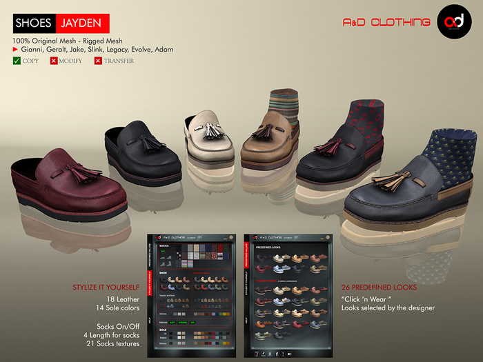 A&D Clothing - Shoes -Jayden-  FatPack
